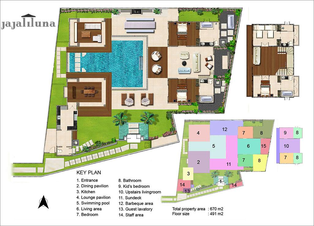 Floorplan Villa Jajaliluna Seminyak 48 Bedroom Luxury Villa Bali Enchanting Bali 4 Bedroom Villa Plans